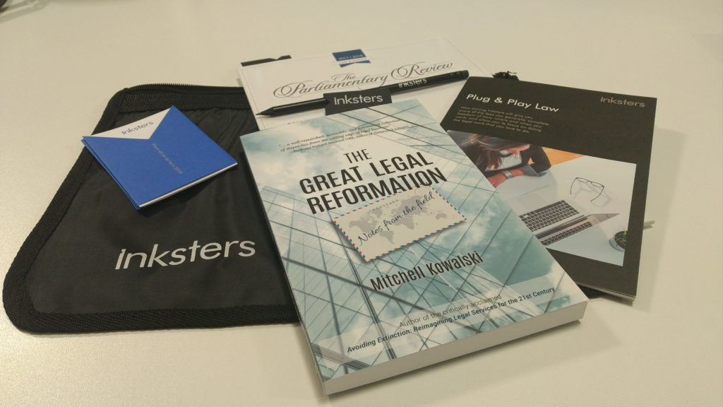 Inksters Plug and Play Law Goody Bag